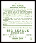 1933 Goudey Reprints #155  Joe Judge  Back Thumbnail