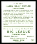 1933 Goudey Reprints #23  Kiki Cuyler  Back Thumbnail