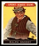1933 Sport Kings Reprints #25  Ralph Snoddy   Front Thumbnail