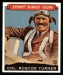 1933 Sport Kings Reprints #27  Roscoe Turner   Front Thumbnail