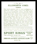 1933 Sport Kings Reprints #46  Ellsworth Vines   Back Thumbnail