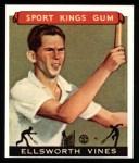 1933 Sport Kings Reprints #46  Ellsworth Vines   Front Thumbnail