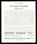 1933 Sport Kings Reprints #40  Don George   Back Thumbnail
