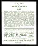 1933 Sport Kings Reprints #38  Bobby Jones  Back Thumbnail
