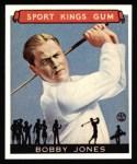 1933 Sport Kings Reprints #38  Bobby Jones  Front Thumbnail