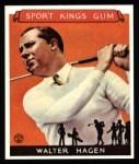 1933 Sport Kings Reprints #8  Walter Hagen   Front Thumbnail
