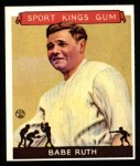 1933 Sport Kings Reprints #2  Babe Ruth   Front Thumbnail