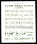 1933 Sport Kings Reprints #11  Charles Jewtraw   Back Thumbnail
