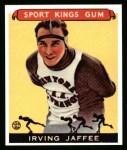 1933 Sport Kings Reprints #34  Irving Jaffee   Front Thumbnail
