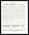 1933 Sport Kings Reprints #26  James Wedell   Back Thumbnail