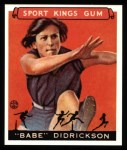 1933 Sport Kings Reprints #45  Babe Didrickson   Front Thumbnail