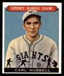 1933 Sport Kings Reprints #42  Carl Hubbell   Front Thumbnail