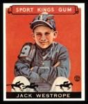 1933 Sport Kings Reprints #39  Jack Westrope   Front Thumbnail