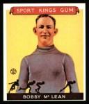 1933 Sport Kings Reprints #12  Bobby McLean  Front Thumbnail
