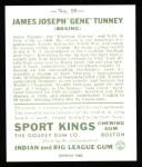 1933 Sport Kings Reprints #18  Gene Tunney   Back Thumbnail