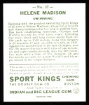 1933 Sport Kings Reprints #37  Helene Madison   Back Thumbnail