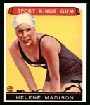 1933 Sport Kings Reprints #37  Helene Madison   Front Thumbnail