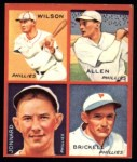 1935 Goudey 4-in-1 Reprints #6 C Ethan Allen / Fred Brickell / Claude Jonnard / Jimmy Wilson  Front Thumbnail