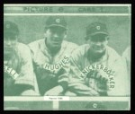 1935 Goudey 4-in-1 Reprints #8 I Joe Vosmik / Bill Knickerbocker / Mel Harder / Lefty Stewart  Back Thumbnail