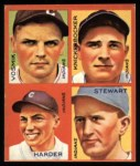1935 Goudey 4-in-1 Reprints #8 I Joe Vosmik / Bill Knickerbocker / Mel Harder / Lefty Stewart  Front Thumbnail