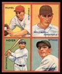 1935 Goudey 4-in-1 Reprints #8 H Joe Kuhel / Earl Whitehill / Buddy Myer / John Stone  Front Thumbnail