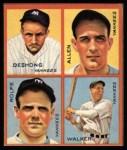1935 Goudey 4-in-1 Reprints #8 E Jimmy DeShong / Johnny Allen / Red Rolfe / Dixie Walker  Front Thumbnail