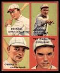 1935 Goudey 4-in-1 Reprints #7 A Frank Frankie Frisch / Dizzy Dean / Ernie Orsatti / Tex Carleton  Front Thumbnail