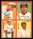 1935 Goudey 4-in-1 Reprints #6 E Joe Cronin / Carl Reynolds / Max Bishop / Chalmer Cissell  Front Thumbnail