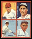 1935 Goudey 4-in-1 Reprints #8 A Ray Benge / Fred Fitzsimmons / Mark Koenig / Tom Zachary  Front Thumbnail