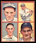 1935 Goudey 4-in-1 Reprints #7 B Jimmie Foxx / Pinky Higgins / Roy Mahaffey / Dibrell Williams  Front Thumbnail