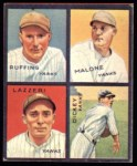 1935 Goudey 4-in-1 Reprints #4 D Bill Dickey / Tony Lazzeri / Pat Malone / Red Ruffing  Front Thumbnail