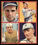 1935 Goudey 4-in-1 Reprints #5 B Travis Jackson / Gus Mancuso / Hal Schumacher / Bill Terry  Front Thumbnail