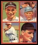 1935 Goudey 4-in-1 Reprints #8 B Minter Hayes / Ted Lyons / Mule Haas / Zeke Bonura  Front Thumbnail