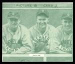 1935 Goudey 4-in-1 Reprints #8 J Ed Coleman / Doc Cramer / Bob Johnson / John Marcum  Back Thumbnail
