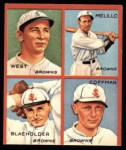 1935 Goudey 4-in-1 Reprints #6 D Sam West / Oscar Melillo / George Blaeholder / Dick Coffman  Front Thumbnail