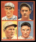 1935 Goudey 4-in-1 Reprints #8 C Jack Burns / Frank Grube / Rollie Hemsley / Bob Weiland  Front Thumbnail