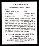 1948 Bowman Reprints #3  Ralph Kiner  Back Thumbnail