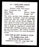 1948 Bowman Reprints #34  Sheldon Jones  Back Thumbnail