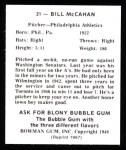 1948 Bowman Reprints #31  Bill McCahan  Back Thumbnail