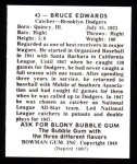 1948 Bowman Reprints #43  Bruce Edwards  Back Thumbnail