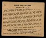 1941 Gum Inc. Uncle Sam Home Defense #42   Stunts In Combat Back Thumbnail