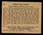 1941 Gum Inc. Uncle Sam Home Defense #23   Target Practice With The Turret Guns Back Thumbnail