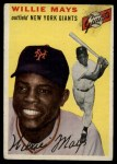 1954 Topps #90  Willie Mays  Front Thumbnail