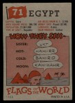 1956 Topps Flags of the World #71   Egypt Back Thumbnail