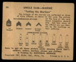 1941 Gum Inc. Uncle Sam Home Defense #36   Telling The Marines Back Thumbnail