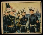 1941 Gum Inc. Uncle Sam Home Defense #36   Telling The Marines Front Thumbnail