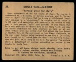 1941 Gum Inc. Uncle Sam Home Defense #28   Turned Over For Duty Back Thumbnail