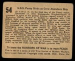 1938 Gum Inc. Horrors of War #54   U.S.S. Panay Sinks as Crew Abandons Ship Back Thumbnail