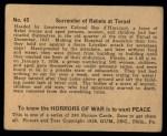 1938 Gum Inc. Horrors of War #45   Surrender of Rebels at Teruel Back Thumbnail