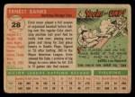 1955 Topps #28  Ernie Banks  Back Thumbnail